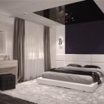 Акцентная стена спальни