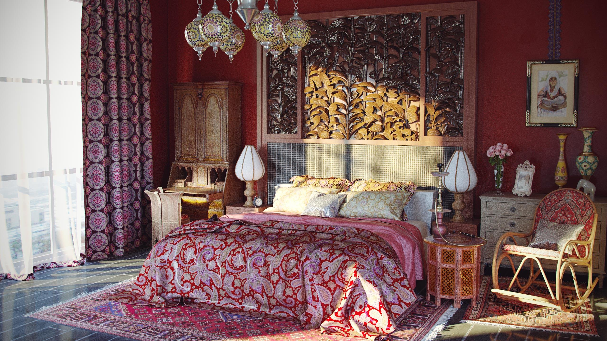 Стили спальной комнаты восток фото