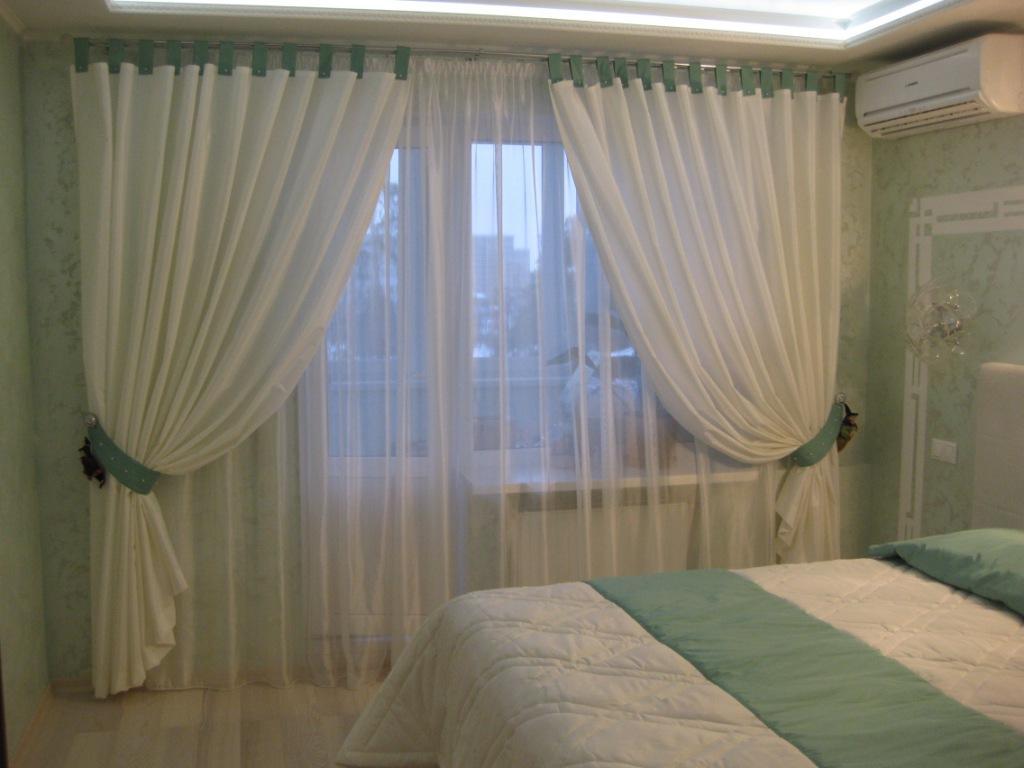 Дизайн штор фото для спальни