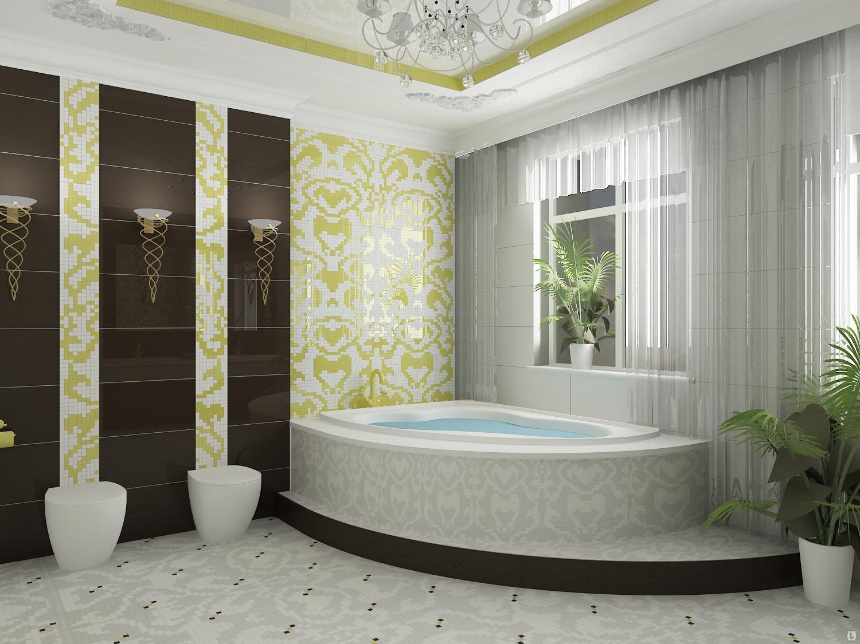 Ванная комната в этническом-стиле фото