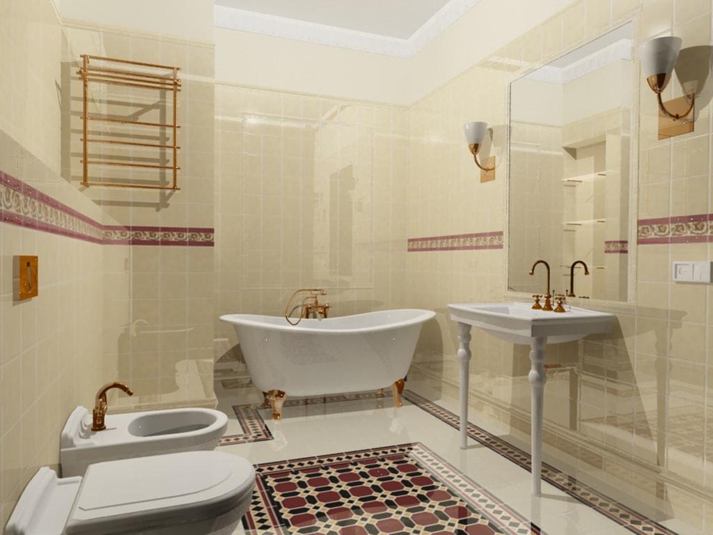 Ванная комната в классическом стиле дизайн фото