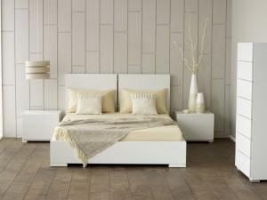 Дизайн стен спальной комнаты дерево