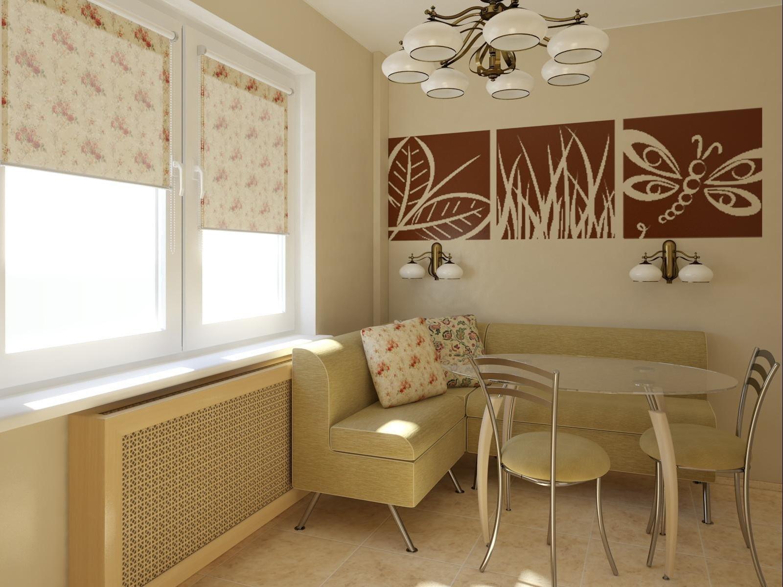 Кухни 8 кв.м дизайн с диваном