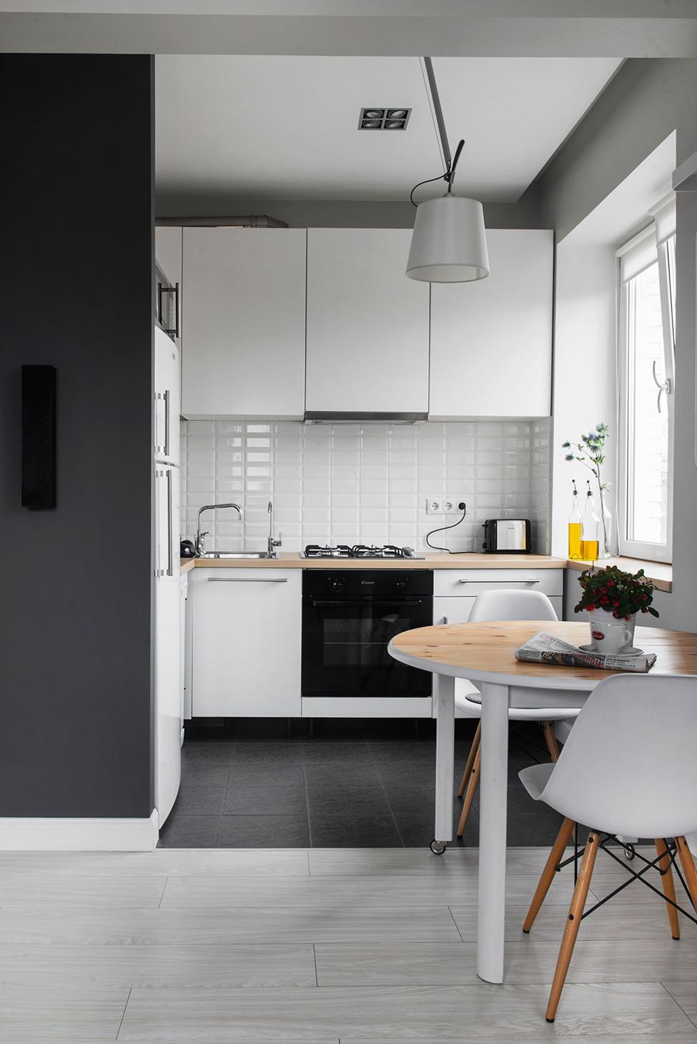стиль лофт на кухне