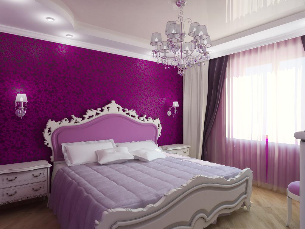 Дизайн потолка спальной комнаты