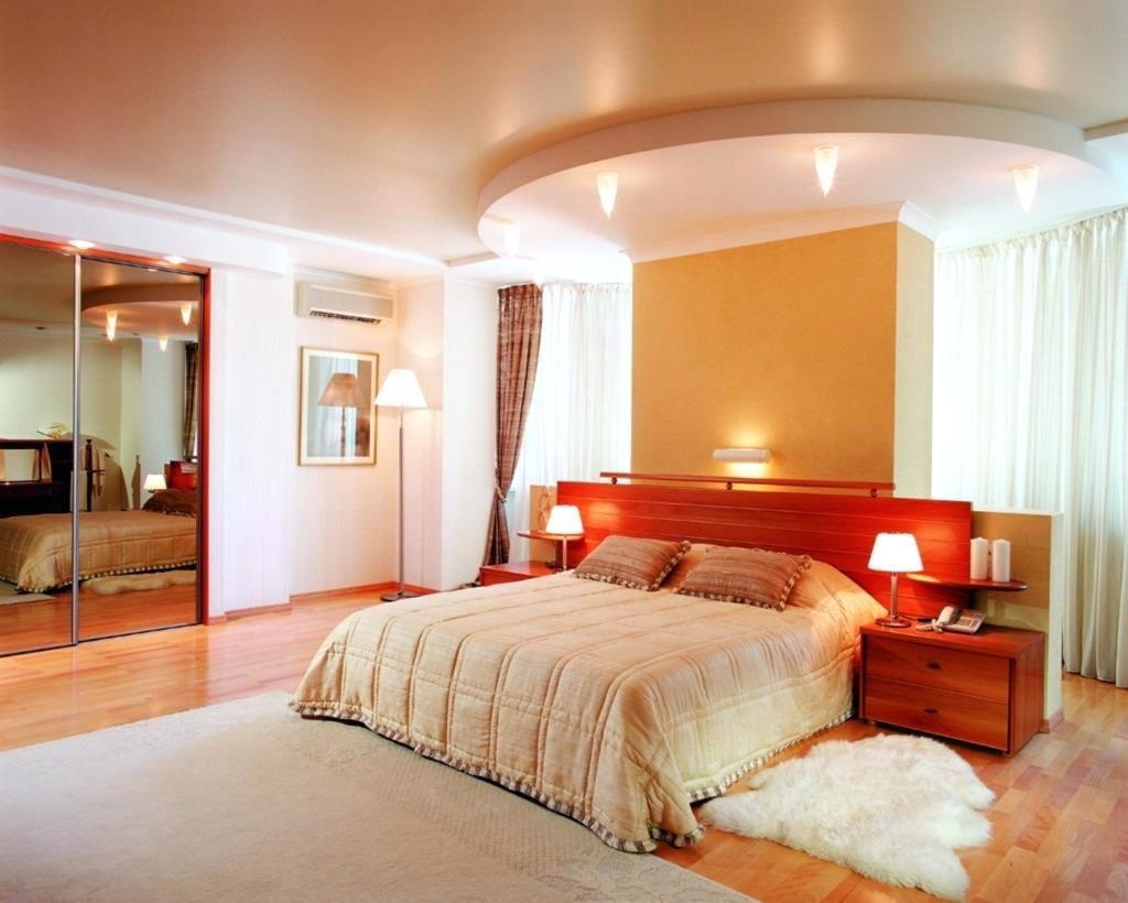 Дизайн потолка спальной комнаты идеи
