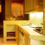 свет на кухне фото