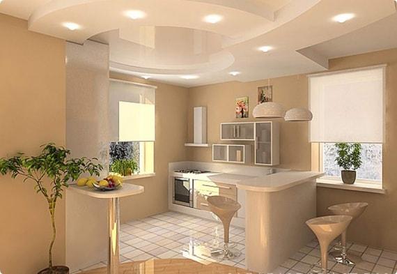 свет для небольшой кухни