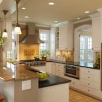 преимущества п-образной кухни фото