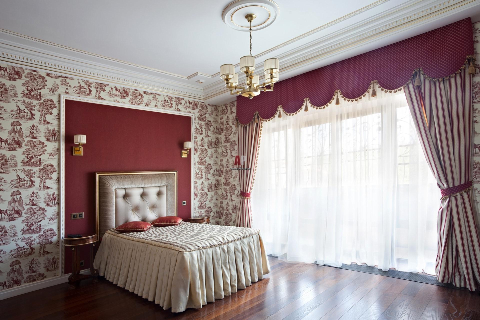 текстильные обои в спальню фото