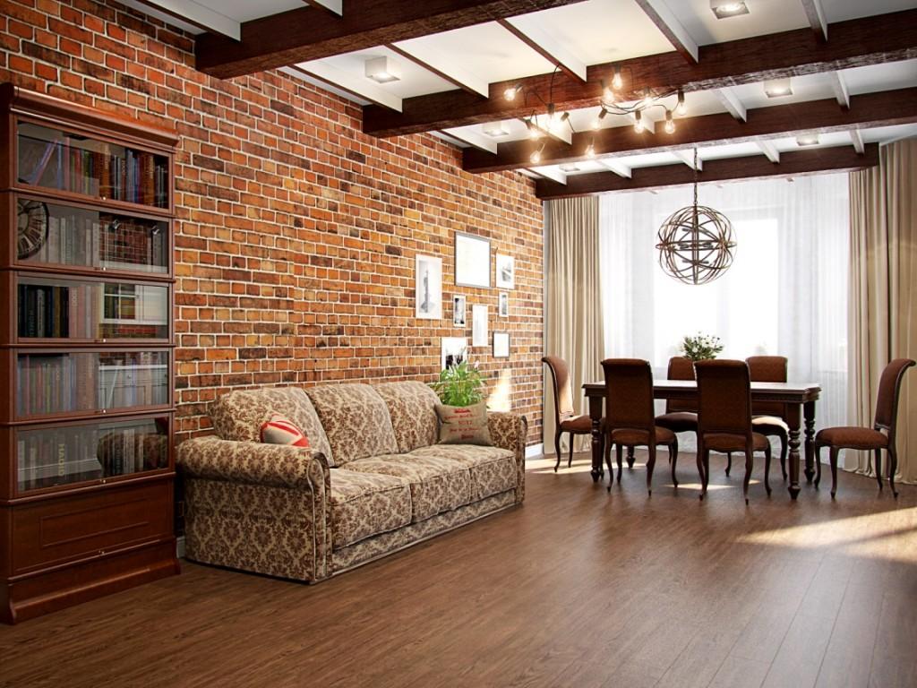 мебель лофт в гостиной