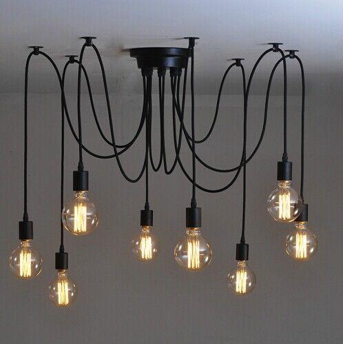 Лампочки Эдисона для дизайна кухни-лофт