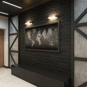 Необычный дизайн стен в стиле лофт