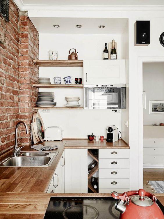 Искусственный камень в дизайне кухни
