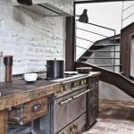 Кухонный гарнитаж в стиле лофт