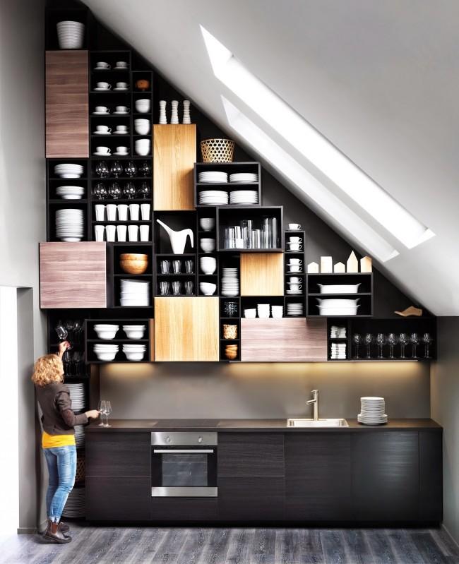 Стеллажи для кухни-лофт