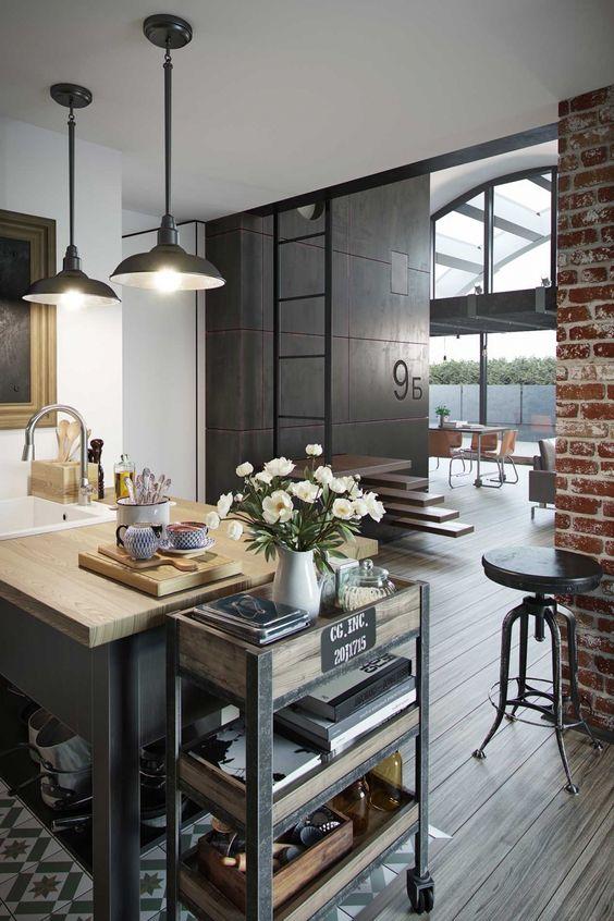 Мебель для дизайна кухни в стиле лофт