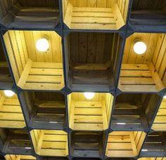 оформление потолка в стиле лофт