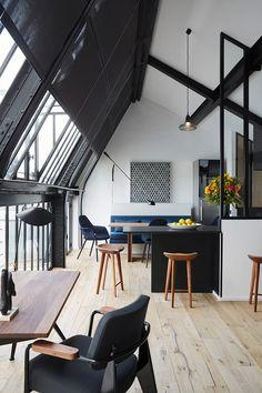 Потолок кухни-лофт