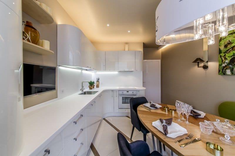 Современный дизайн кухни 9 кв.м