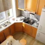 Преимущества установки угловой кухни