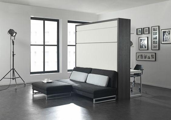 шкаф-кровать в дизайне гостинной