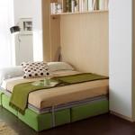 встроенная в шкаф кровать в дизайне гостинной