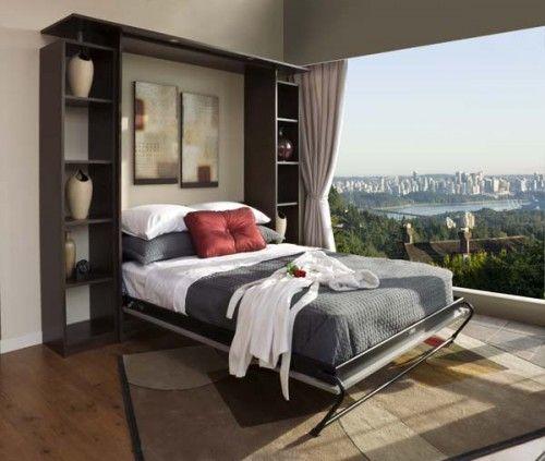 встроенная в шкаф кровать и дизайн интерьера