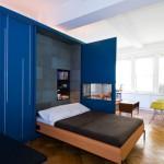 экономия пространства детской с помощью шкафа-кровати