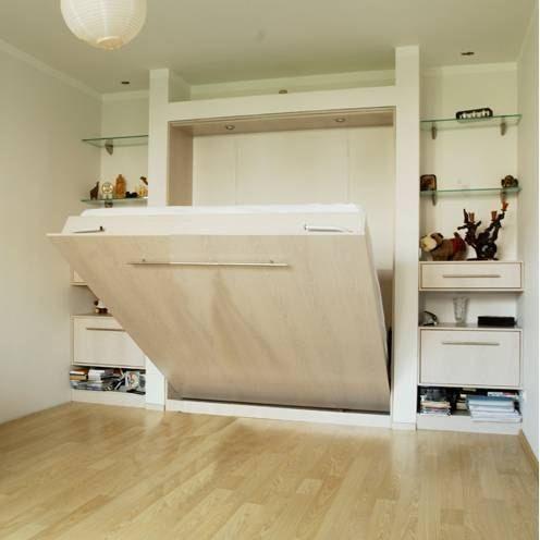 трансформирующийся шкаф-кровать в интерьере квартиры