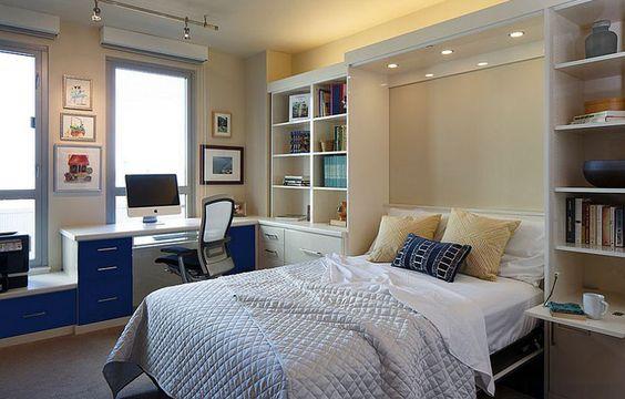 как увеличить пространство с помощью шкафа-кровати