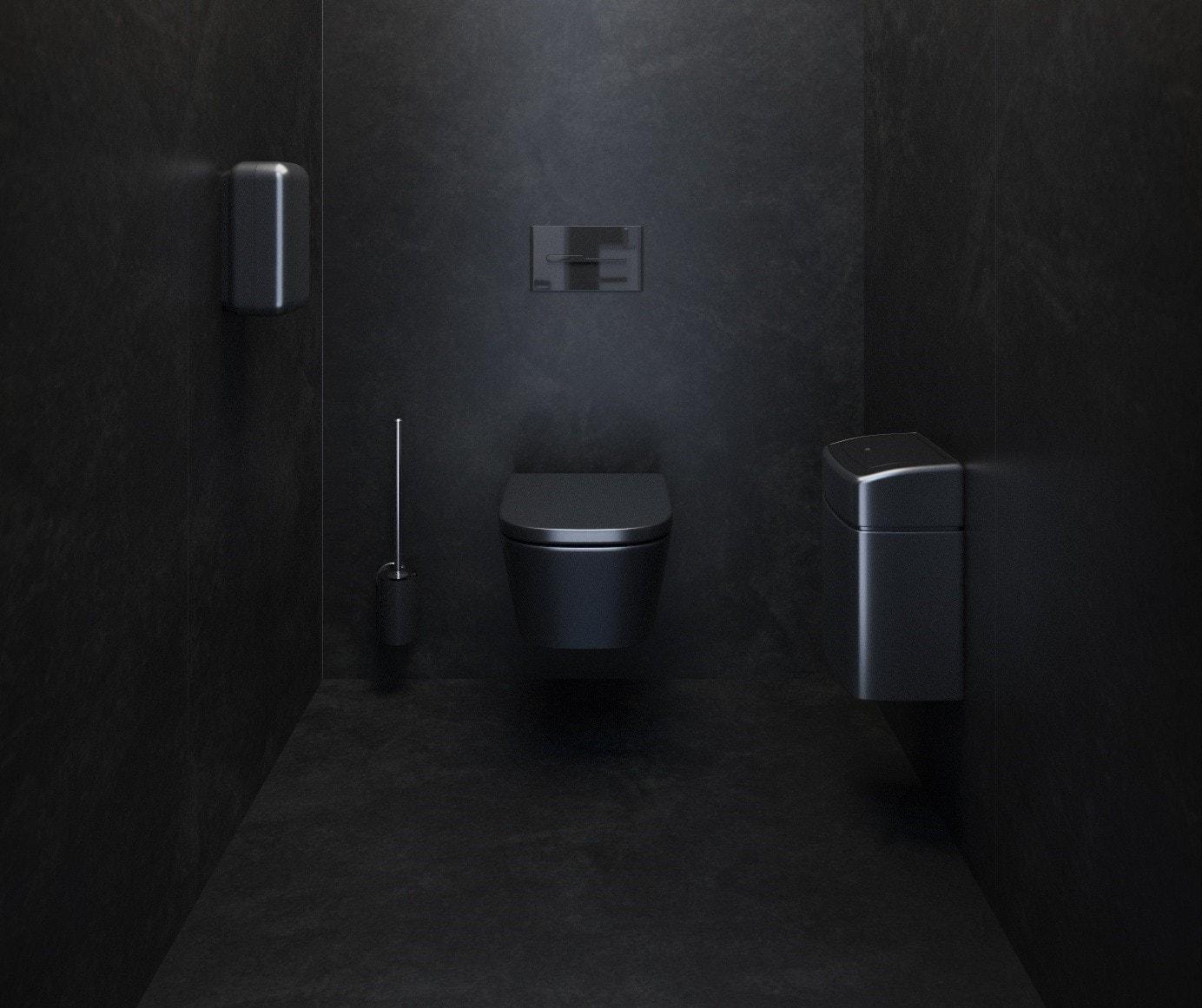 фото ванной с черным полом