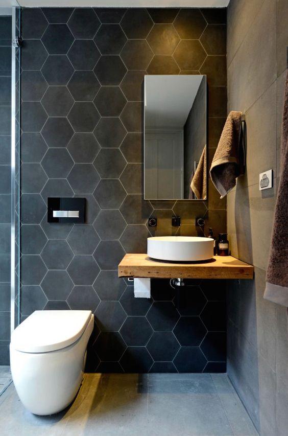 шестиугольная плитка для ванн