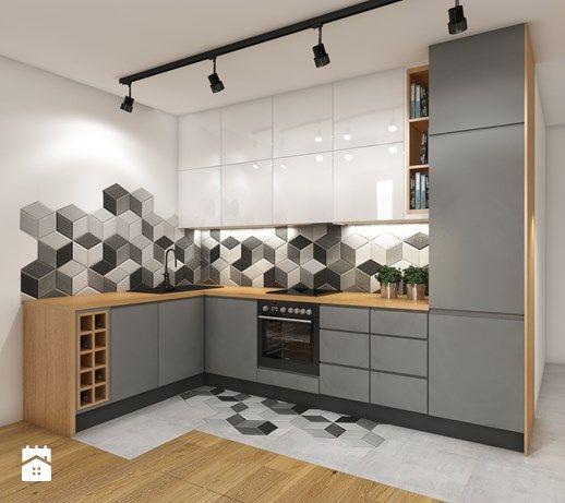 угловой шкаф в дизайне кухни