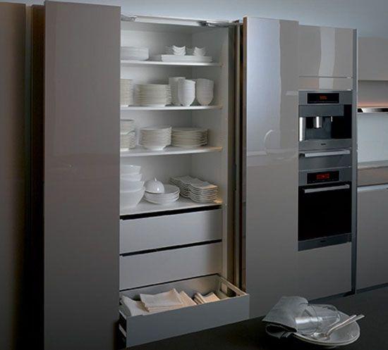 полочки в шкафу для кухни