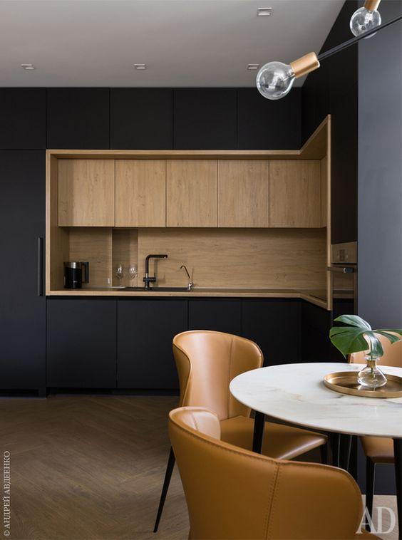 отделка из дерева для кухонного шкафа