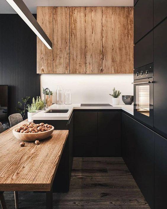 черный шкаф для кухни