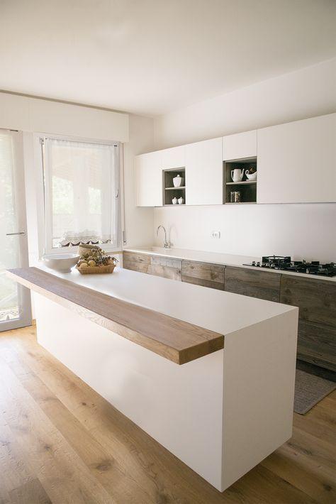 дизайн интерьера светлой кухни в стиле минимализм