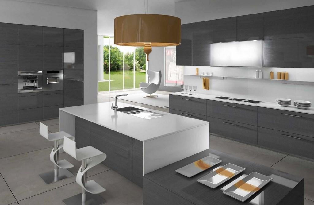 интерьер современной кухня в стиле минимализм