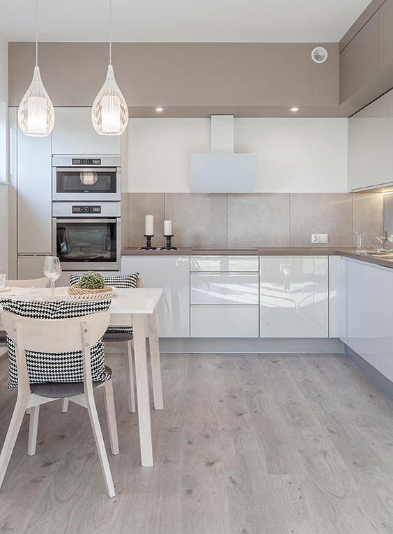 идея освещения для кухни в стиле минимализм