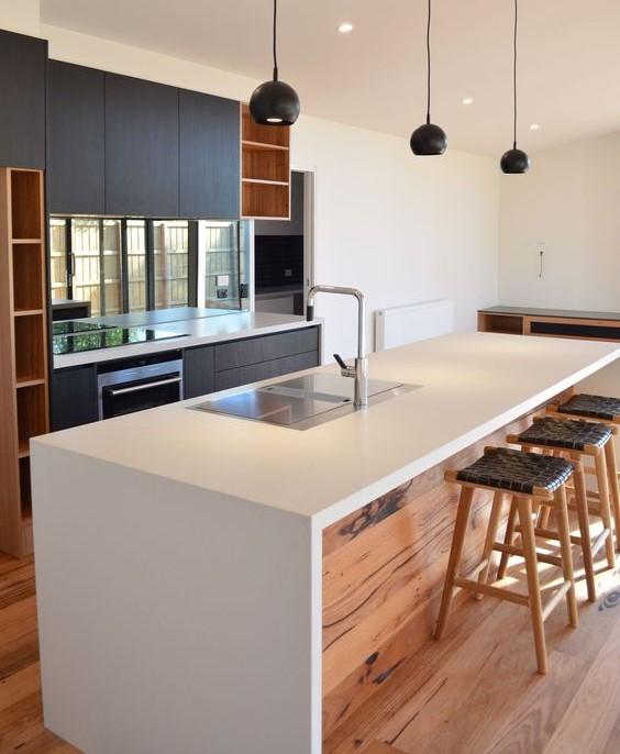 пример функциональной кухни в стиле минимализм