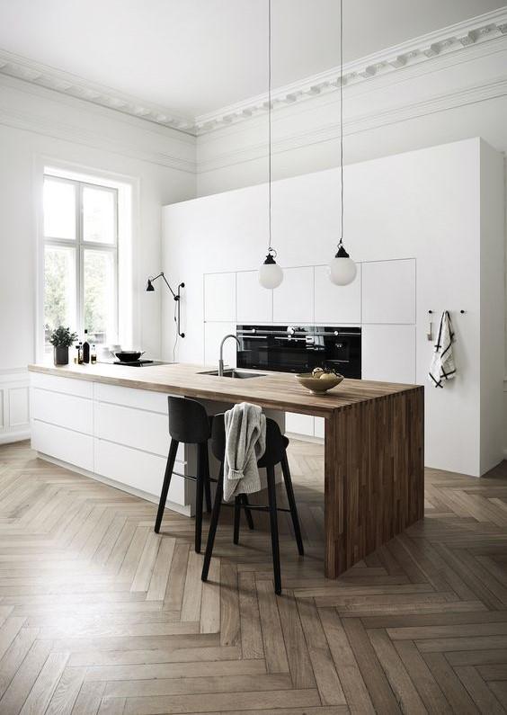 пример оформления интерьера кухни в стиле минимализм