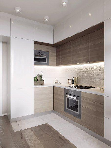 кухня небольших размеров в стиле минимализм
