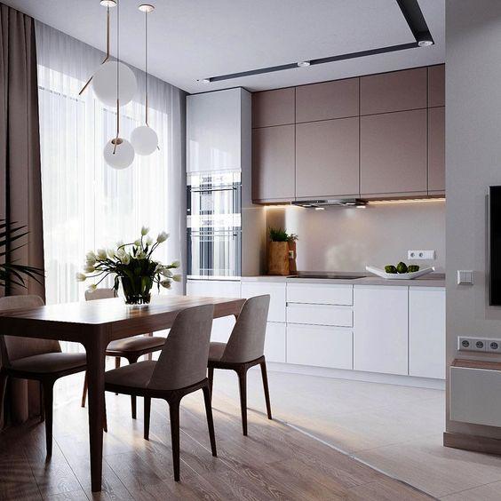 сдержанный дизайн кухни в стиле минимализм