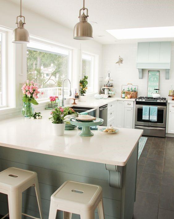 современный стиль в интерьере кухни в частном доме