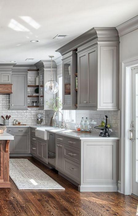 современный стиль в дизайне кухни в частном доме