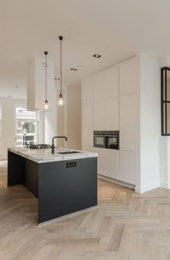 минимализм в дизайне современной функциональной кухни