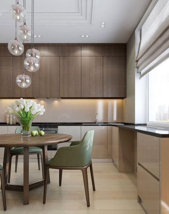 стиль минимализм в интерьере современной кухни