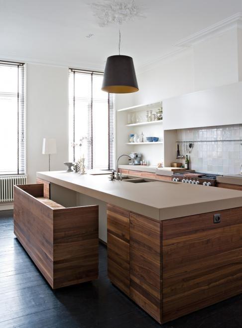 дизайн удобной и функциональной кухни в стиле минимализм