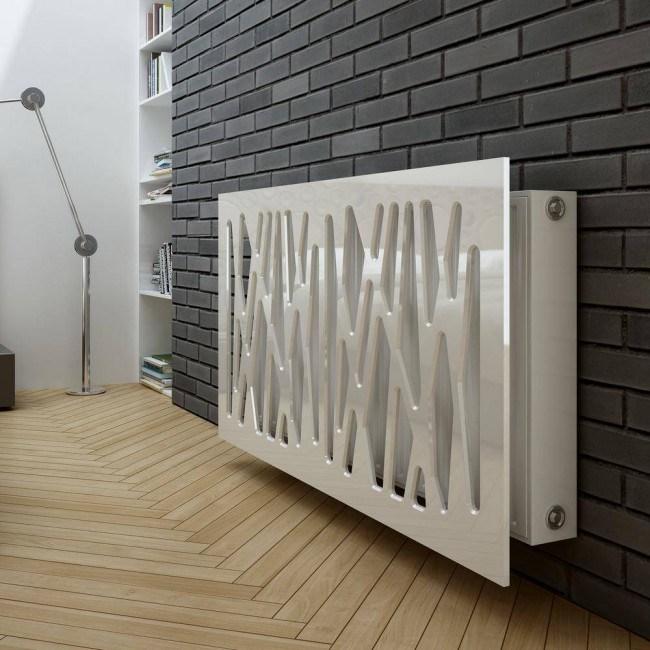 Дизайн металлической панели для батареи отопления